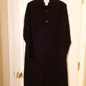 Susan Graver button up duster